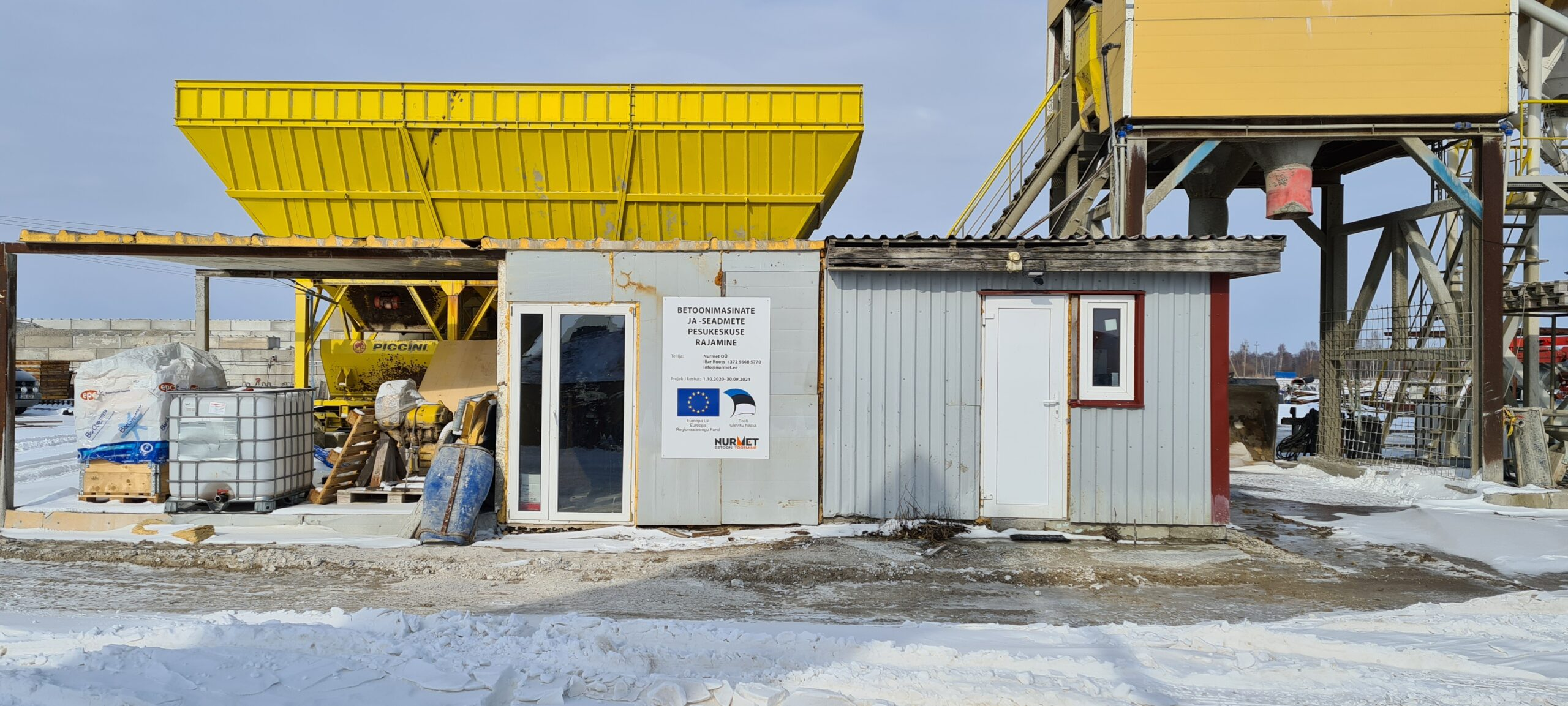 Betoonimasinate ja –seadmete pesukeskuse rajamine